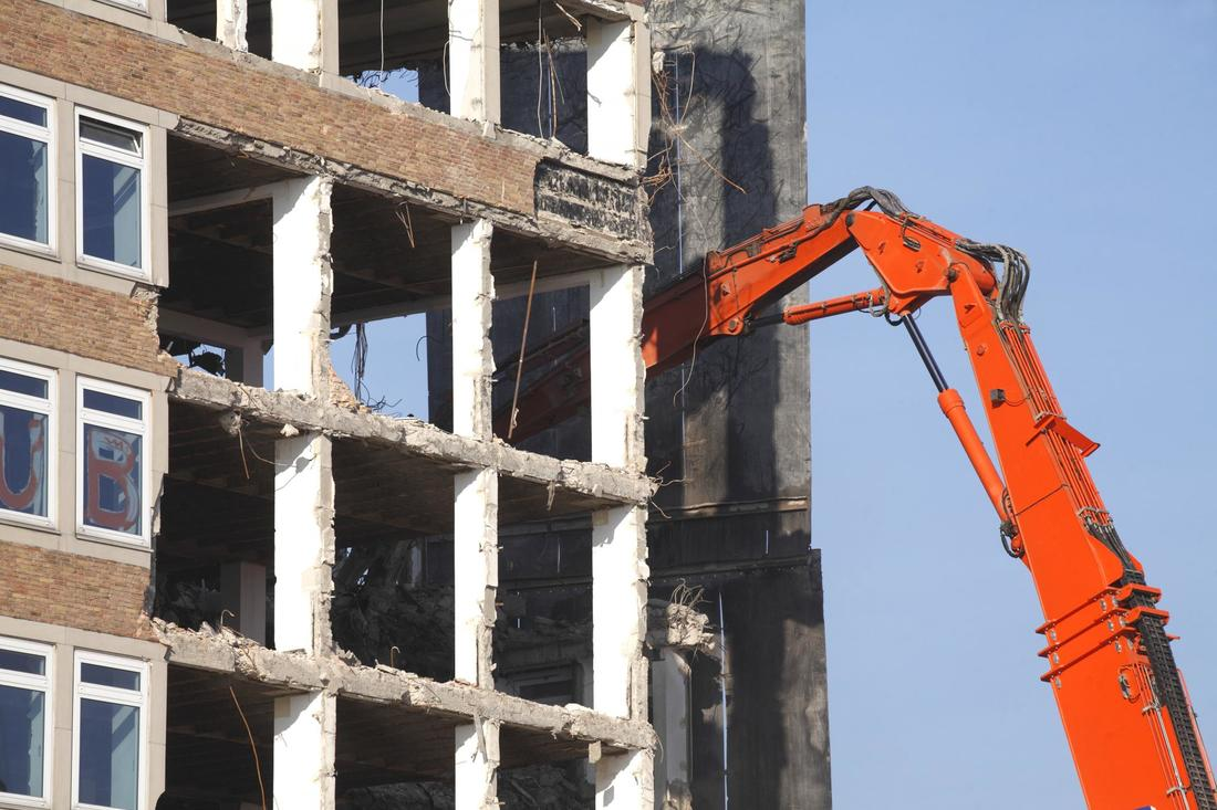 This is a picture of a commercial demolition.
