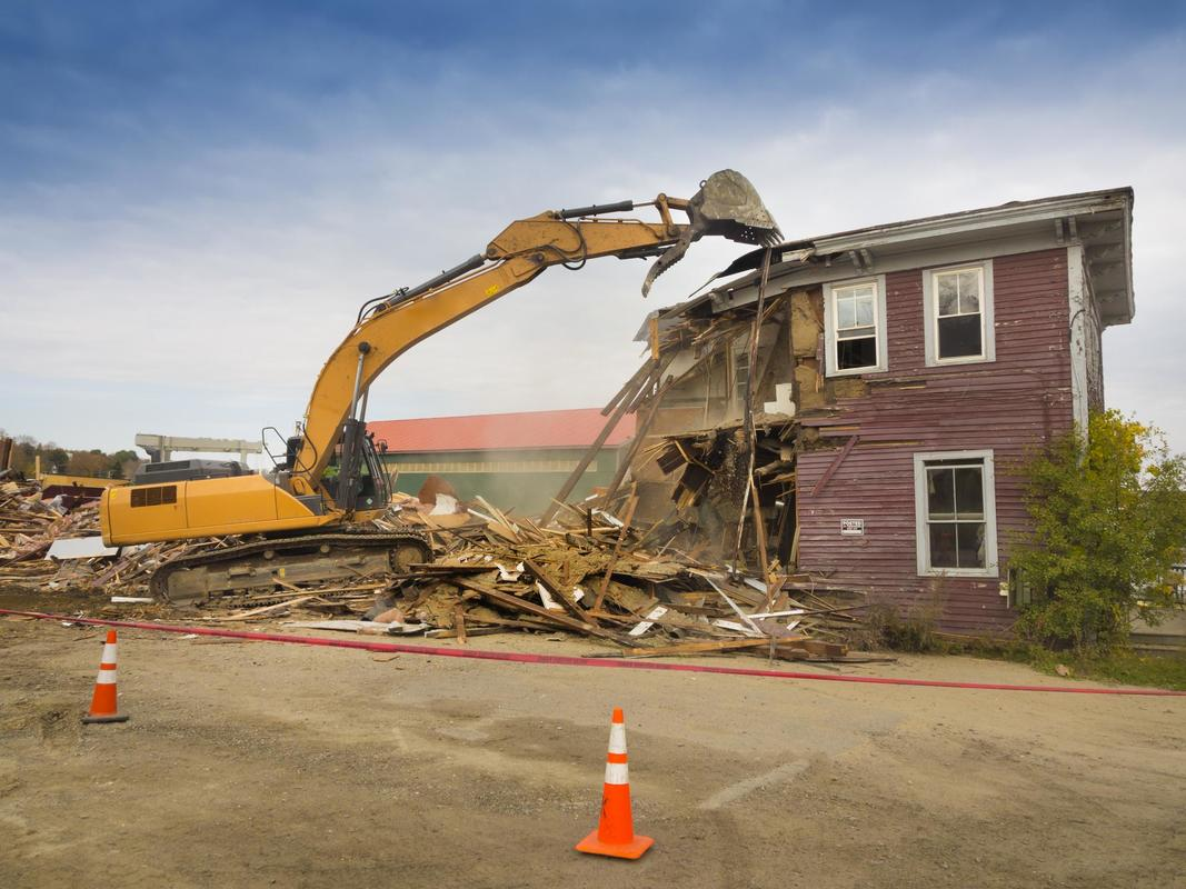 This is a picture of a residential demolition.  Las Vegas Demolition